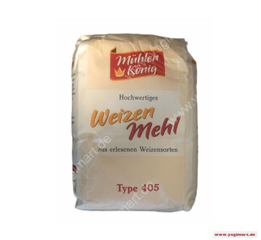 Bild von Mühlen König Weizen Mehl Type 405 (wheat flour) 1kg MAIDA